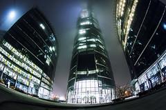 Warsaw Spire Plac Europejski (vito72) Tags: warszawa plac europejski architecture fog tokina fisheye 1017 vitotammone