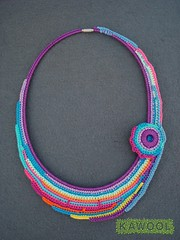 [Colar] C #90 (*kathamina) Tags: crochet necklace kawool freeform handmade jewelry