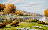 Kan Jin Won (nokoredstar) Tags: aquarelle peinture coréedunord pyongyang paysage broderie