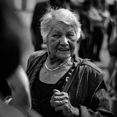 Grandmother (typray) Tags: happy old d810 nikon light sun summer monochrome portrait people woman grandmother blackandwhite
