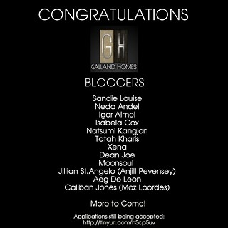 Galland Homes Blogger Team