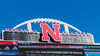 Memorial Stadium (Codydownhill) Tags: football game huskers big red sports portrait trophy brother dad