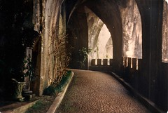 Portugal (3) (The Spirit of the World) Tags: portugal sintra europe palace penapalace historical history historyofportugal fog atmosphere mood mystery architecture sightsofportugal nobility royalty analogphotography 1986