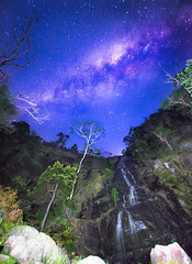 somewhere, GrampianNP, Victoria, AU (gi-moon Kang) Tags: water fall night sky grampians national park vic australia milky way waterfall landscape nikon d5300