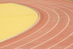 athletic field road (Brother's Art) Tags: competitivesports crease curves grass lane meadow playingfield runningtrack singleline sportstrack sportsvenue stadium trackandfield trackandfieldstadium outdoors parallel road