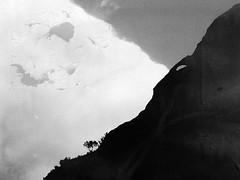Bleak Frontier 4 (Rossdxvx) Tags: textured texture textures abstract surreal surrealism silhouette minimalism mountain overlay overexposed desert decay dark 2016 lofi landscape blackandwhite iphone experimental horizon gritty grim bleak