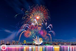 Odaiba Rainbow Fireworks 2016 (December 3rd)