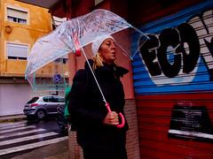 ... (J. Garcia2011) Tags: color callejera urbano urbana gente calle paraguas lluvia streetphotography street umbrella rain people g11 valencia comunidadvalenciana