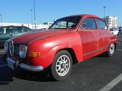 1972 Saab 96 (splattergraphics) Tags: 1972 saab 96 saab96 carshow huntvalleyhorsepower huntvalleytownecentre huntvalleymd