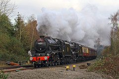 December Double (Treflyn) Tags: lms double stanier black5 44871 45407 southend east salisbury cathedralexpress charter southcote junction reading
