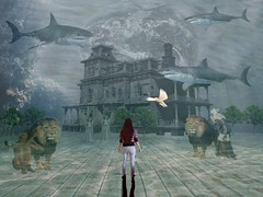 Memories In Future Tense (-Jeffrey-) Tags: deviantart iphoneart mobileart zombie sharks lions haunted house angel statues demale black dress karina dove trees direwrath wolverine041269 moonglowlily neverfading melinahollway evelivesey