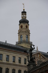 The House of Blackheads & the dragon, Riga (Deirdre Snook) Tags: the house blackheads riga 1334 dragon slaying domes old