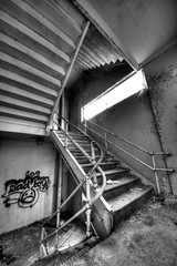 Sad-Stairs (Revisted) (Sine--Qua--Non) Tags: urban abandoned decay indianapolis urbandecay neglected indy indiana forgotten urbanexploration hdr collapsed urbex photomatix abandonedindiana sonya77 sigma816