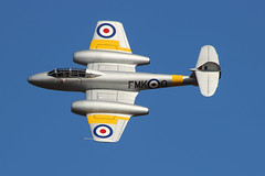 Gloster Meteor T.7 WA591 (PVJ Photography 2012) Tags: canon flying aircraft victory airshow cosby