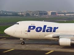 Polar Air Cargo B744F (aviator_gufran) Tags: plane sony cybershot cargo boeing mumbai runway jumbojet dhl planespotting polarair