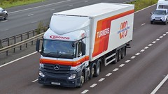 AV13 HVN (panmanstan) Tags: truck wagon mercedes motorway m18 yorkshire transport lorry commercial vehicle freight mp4 refrigerated langham haulage hgv actros