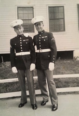"""(signed) """"My buddy and I.  Love, """"Tex"""".. (just call me Mr Lucky) Tags: family dad marines familyphotos studs dressblues dadspics nothingisimpossible sharpastacks"""