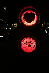 Bicicle in Red lights (Poncegro) Tags: nightphotography travel streetphotography bicicleta bici bicicle viena redlight wiwn