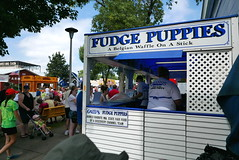 (theleakybrain) Tags: food minnesota september mnstatefair 2015 fudgepuppies p1350865
