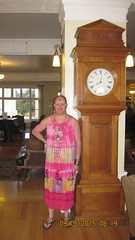 Athne and Grandfather Clock (amenenhet6) Tags: park lake hotel american yellowstone hijra