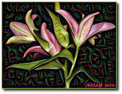 *Sunday...!* (MONKEY50) Tags: art digital pink flowers green nature macro awesomeblossoms flickraward lily pentaxart autofocus artdigital netartii exoticimage awardtree hypothetical musictomyeyes petals leaf plant pentaxflickraward beautifulphoto greenscene beautiful