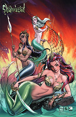 Shahrazad 5c (Campbell cover) (FranMoff) Tags: net sword comicbooks pike mermaid campbell jscottcampbell shahrazad