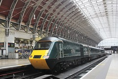 Green Great Western Railway (96tommy) Tags: new uk england green london station speed train photography photo high diesel britain united great transport traction engine first railway kingdom class transportation western gb paddington locomotive rare intercity 43 125 hst livery 43187