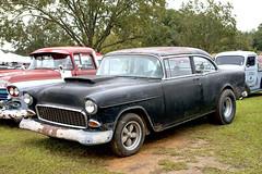 1955 Chevy (Thumpr455) Tags: auto show black chevrolet 1955 car rain nikon automobile oct southcarolina chevy carshow d800 2015 trifive wareshoals worldcars afnikkor3570mmf28d 555657 wareshoalsdragway choppersball