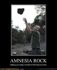 AMNESIA ROCK (Chikkenburger) Tags: posters memes demotivational cheezburger workharder memebase verydemotivational notsmarter chikkenburger