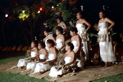 28-706 (ndpa / s. lundeen, archivist) Tags: nick dewolf nickdewolf color photographbynickdewolf 1972 1970s film 35mm 28 reel28 southpacific pacificislands oceania tradition traditional culture pacificislandculture southpacificislands suva fiji festival southpacificfestival southpacificfestivalofarts festivalofpacificarts pacificartsfestival festpac southpacificartsfestival costume costumes performance performers fijian outdoor outdoors field people women youngwomen clothes clothing seated sitting group blurry outoffocus fiji72 blur