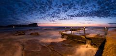 Avalon panorama (David Marriott - Sydney) Tags: longexposure sunrise dawn sydney australia nsw newsouthwales bluehour avalonbeach avalonbeachrockpool