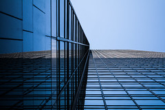 (jfre81) Tags: houston texas tx twop reflection wells fargo tower urban art blue intersecting vanishing point axis horizontal vertical onblue