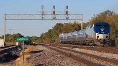 #304 at Hazel Dell - Pt. 2 (HighHor$epower) Tags: railroad train amtrak signal springfieldillinois passengertrain hazeldell railroadsignal signalbridge p42dc amtk69 amtk304