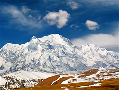 Himalayas (Katarina 2353) Tags: china travel vacation sky cloud mountain snow field landscape 2000 snowy tibet himalayas katarinastefanovic katarina2353
