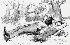 """""""Jim & Huck turned in and slept"""" by E. W. Kemble from """"The Adventures of Huckleberry Finn"""" by Mark Twain. London (1884). 1st ed. (lhboudreau) Tags: sleeping illustration book etching drawing sleep illustrations drawings piccadilly jim books huck slave marktwain bookart 1884 hardcover etchings samuelclemens huckfinn kemble firstedition vintagebook huckleberryfinn hardcovers classicfiction hardcoverbooks theadventuresofhuckleberryfinn hardcoverbook adventuresofhuckleberryfinn classicstory runawayslave jimhuck chattoandwindus classictale tomsawyerscomrade ewkemble chattowindus jimandhuck firstbritishedition firstukedition"""