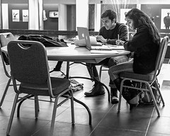 study together (Eric.Ray) Tags: county street white black digital canon island photography suffolk long candid strangers beginners eosm