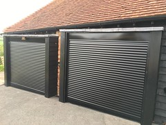 Two black special sloped bottom slats on SWS in Hooe