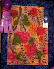 Embellished and maybe hand dyed. (Ducks & Daisies) Tags: statefair quilting oklahomastatefair perennialpal ducksdaisies notmycraftsmanship