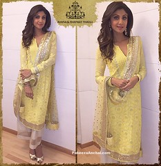 Shilpa Shetty in Rimple and Harpreet Narula's Chikankari Embroidery Work Salwar Kameez (shaf_prince) Tags: embroidery shilpashetty bollywoodactress designerwear celebritydresses bollywoodsalwarkameez indianfashiondesigners celebritysalwarkameez bollywooddesignerdresses actressinyellowdresses vshapedneckdesign chikankarisuits lucknowichikankurta lucknowichikankarisuits