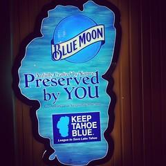 BLUE MOON (HumbertoSolis) Tags: california blue water beer sign neon nevada ad tahoe laketahoe neonsign reno bluemoon coolblue keeptahoeblue aquablue