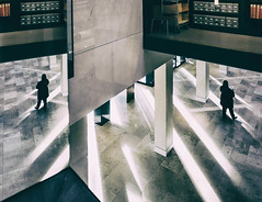 Walk Away 2 (red_bandora) Tags: light reflection mirror library oxford weston leicaq