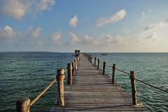 Pemba Walkway (DaveTaylor2014) Tags: wood blue sea sky holiday colour water tanzania nikon walkway pemba d3200