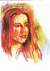 PROYECTO 132-79 (GARGABLE) Tags: angelbeltrn apuntes lpicesdecolores portrait retrato sketch drawings dibujos anatomia gargable