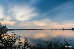Sunset Langweerder Wielen (JJBosma01) Tags: ngc sunset langweer langweerderwielen joure fryslan friesland zonsondergang water lucht nederland netherlands bulb longexposure canon7d canon1740mml