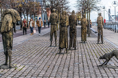 FAMINE MEMORIAL AT CUSTOM HOUSE QUAY IN DUBLIN [ARTIST - ROWAN GILLESPIE]-122183 (infomatique) Tags: famine greathunger faminememorial customhousequay northwall dublin ireland infomatique williammurphy rowangillespie