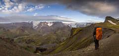 Fimmvrduhls panorama (JoshyWindsor) Tags: michellewindsor nature mountains canoneos6d holiday iceland canonef24105mmf4l fimmvrduhls hiking travel glaciers scenic panorama outdoors landscape viewpoint europe tramping valley fimmvrduhls