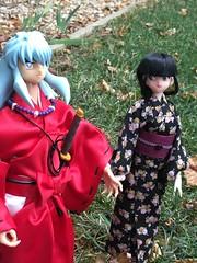 Inuyasha and Kikyo (kirasanban) Tags: kikyodoll inuyashaandkikyo inuyashafigure inuyashadoll inuyasha