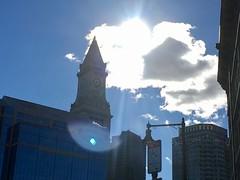Boston - Suns Reflection off the Custom House (Polterguy30) Tags: sunlight sun customhouse massachusetts boston