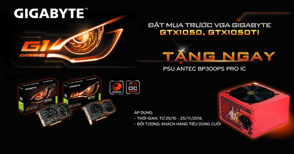 Đặt mua trước VGA GIGABYTE – Tặng PSUANTEC BP300PS Pro IC tối ưu cho game