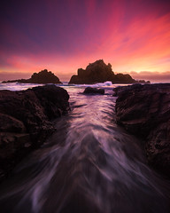 Channel (Tarun Kotz) Tags: bigsur pfier beach escaype burn channel pink sunset tarunkottary nature seascape water ocean